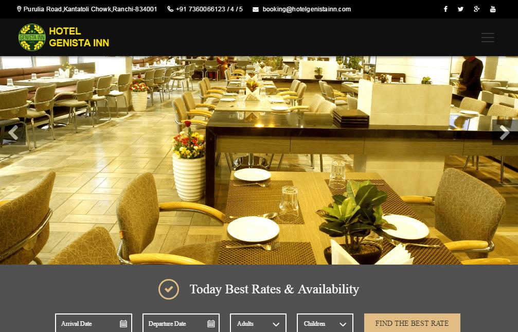 Hotel Genista Inn Luxury Hotel in Ranchi Business Hotels Budget Hotels-min