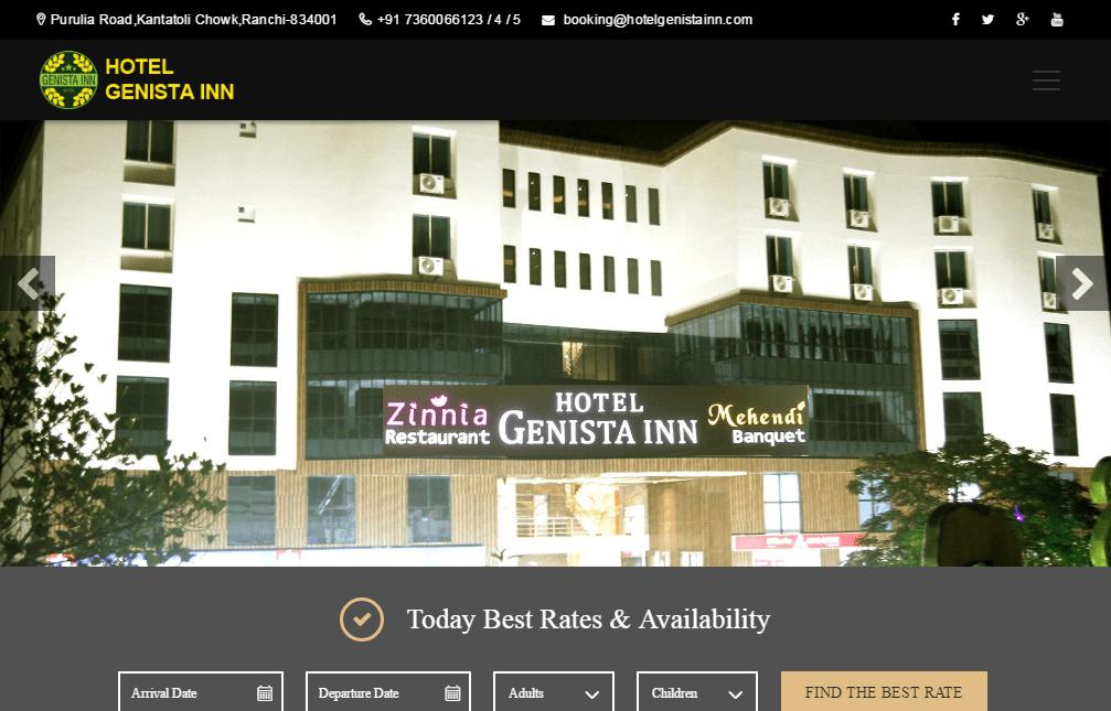 Hotel Genista Inn Luxury Hotel in Ranchi Business Hotels Budget Hotels1-min
