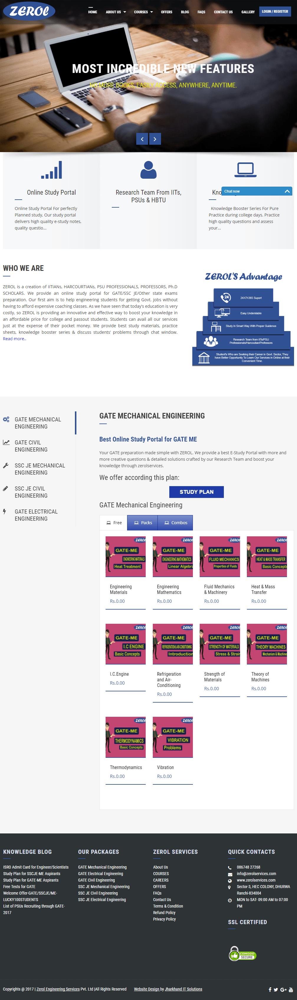Online Study Portal GATE SSCJE BOOSTER ZEROLSERVICES1-min